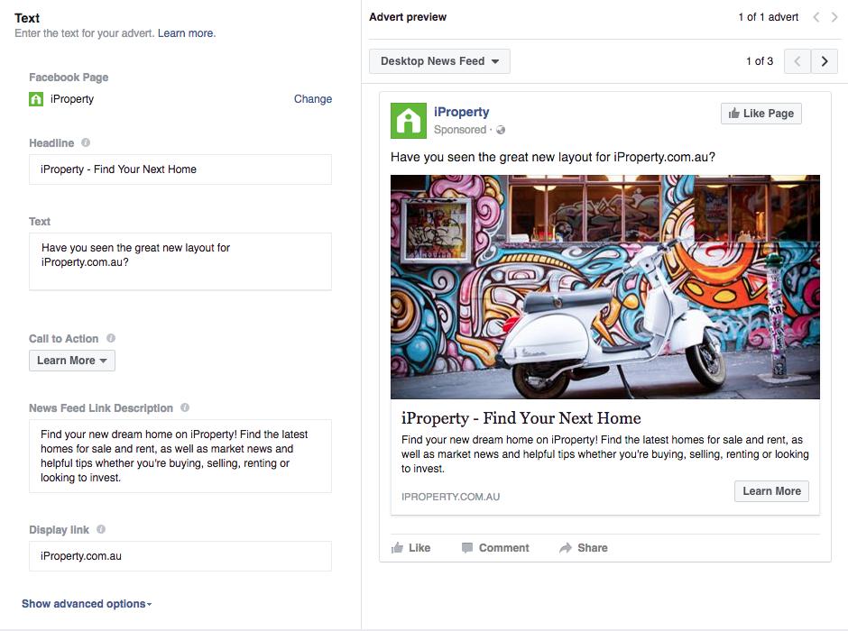 create-facebook-advert